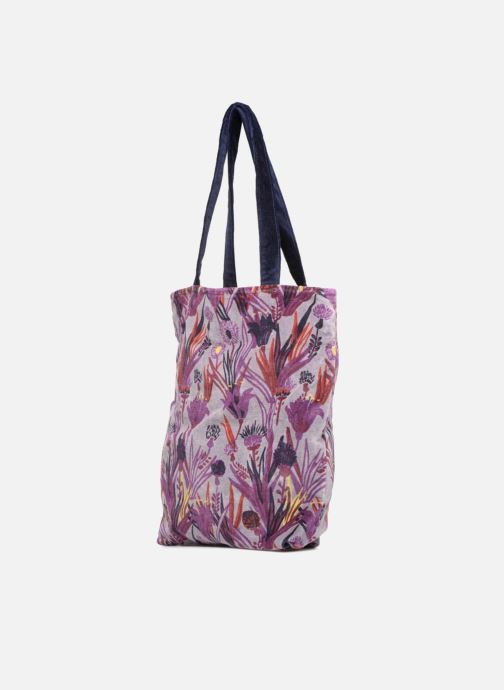 Handtaschen Monoprix Femme TOTE BAG AOP CHARDON lila schuhe getragen