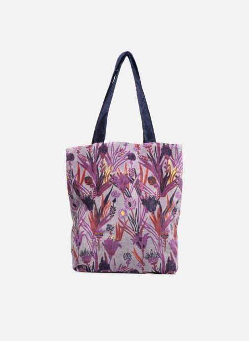 Handtaschen Monoprix Femme TOTE BAG AOP CHARDON lila ansicht von vorne
