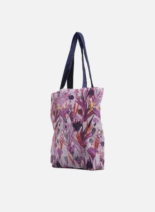 Handbags Monoprix Femme TOTE BAG AOP CHARDON Purple view from the right