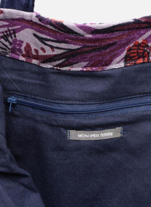 Handbags Monoprix Femme TOTE BAG AOP CHARDON Purple back view