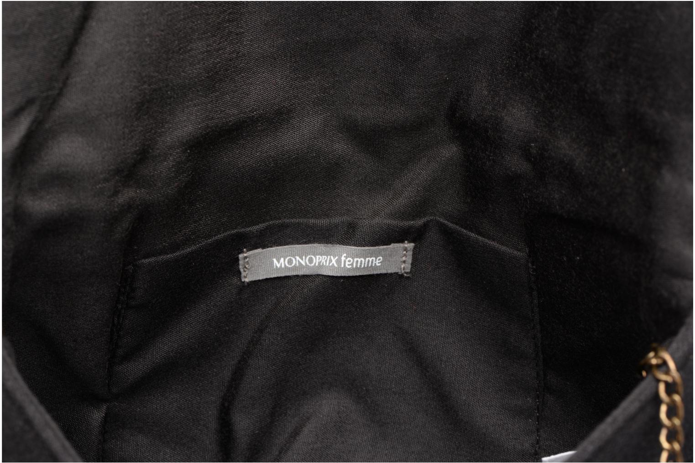 Sacs à main Monoprix Femme POCHETTE RABAT PERLE Noir vue gauche