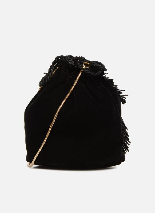 Bolsos de mano Monoprix Femme POCHETTE SEAU FRANGE PERLE Negro vista de frente