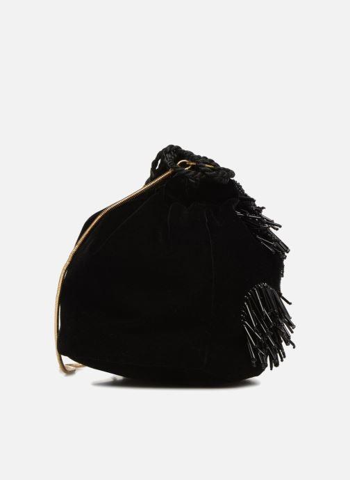Bolsos de mano Monoprix Femme POCHETTE SEAU FRANGE PERLE Negro vista lateral derecha