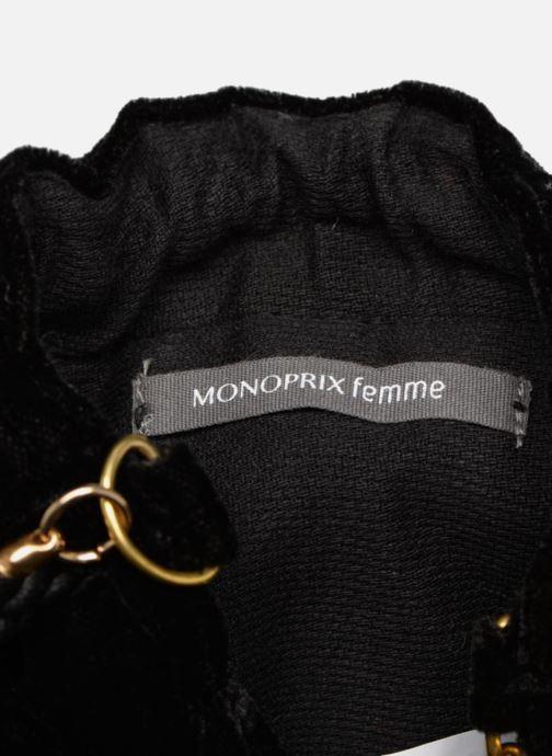 Bolsos de mano Monoprix Femme POCHETTE SEAU FRANGE PERLE Negro vistra trasera