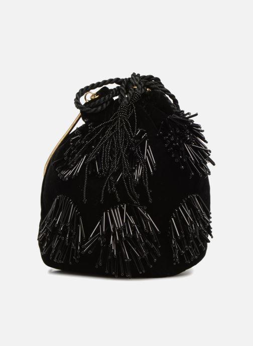 Handtaschen Monoprix Femme POCHETTE SEAU FRANGE PERLE schwarz detaillierte ansicht/modell
