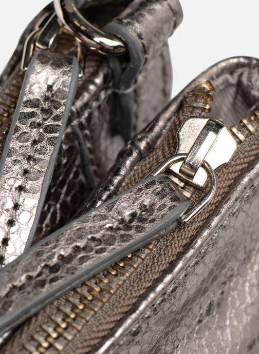 Handbags Monoprix Femme POCHETTE 2 ZIPS CUIR Silver back view