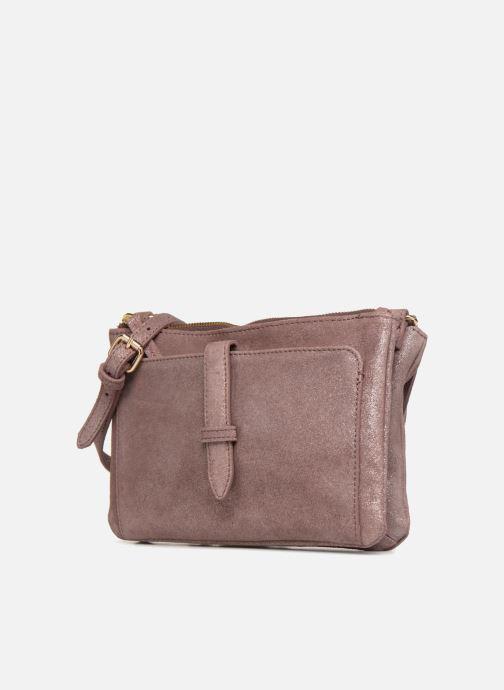 Handtaschen Monoprix Femme POCHETTE 2 ZIPS CUIR IRISE lila schuhe getragen
