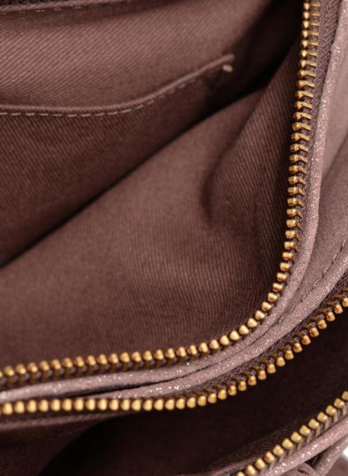 Handtaschen Monoprix Femme POCHETTE 2 ZIPS CUIR IRISE lila ansicht von hinten
