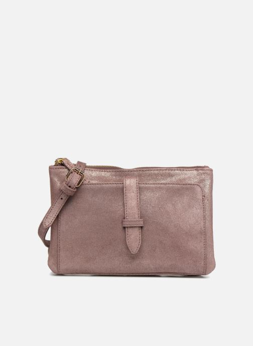 Handtaschen Monoprix Femme POCHETTE 2 ZIPS CUIR IRISE lila detaillierte ansicht/modell