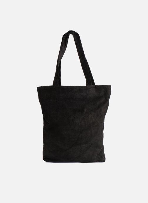 Handbags Monoprix Femme TOTE BAG VELOURS WINTER Black front view