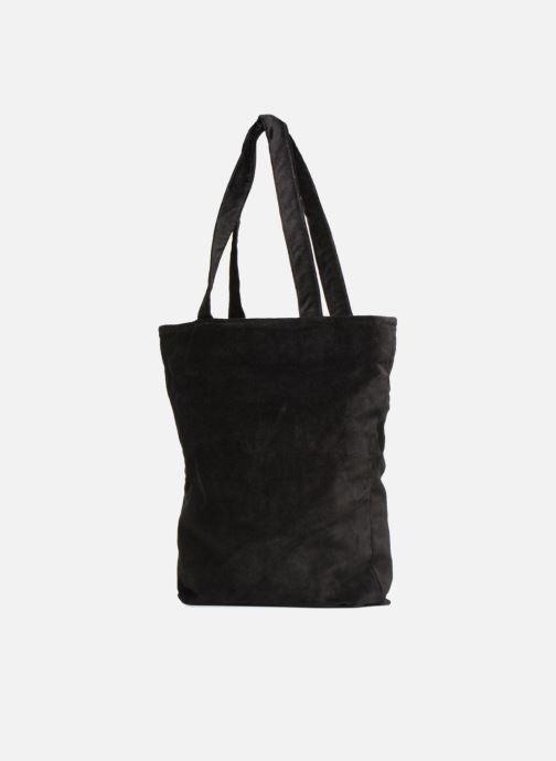 Sacs à main Monoprix Femme TOTE BAG VELOURS WINTER Noir vue droite