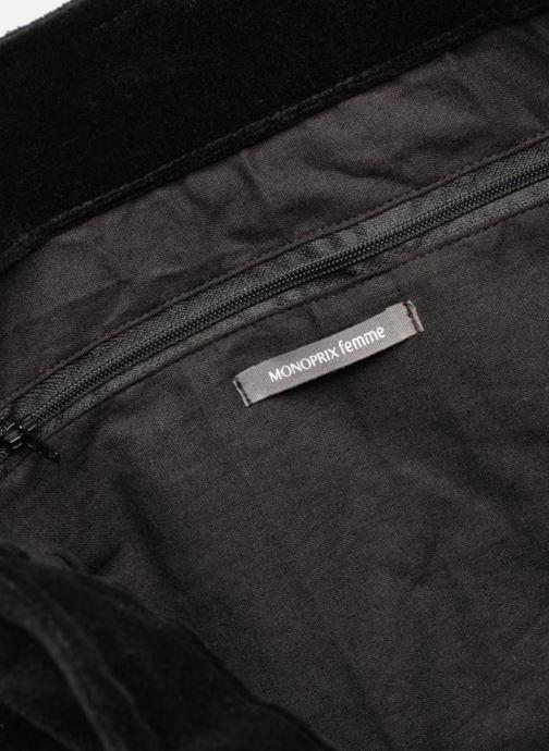 Handbags Monoprix Femme TOTE BAG VELOURS WINTER Black back view