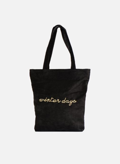 Handbags Monoprix Femme TOTE BAG VELOURS WINTER Black detailed view/ Pair view