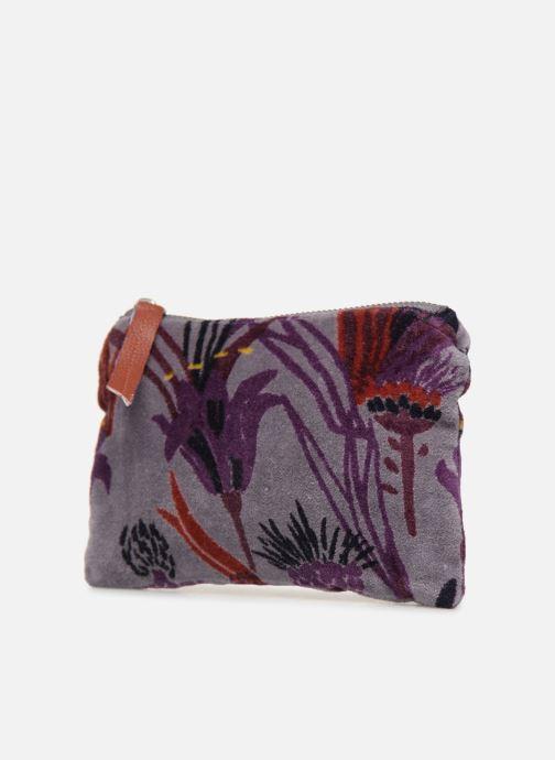 Wallets & cases Monoprix Femme POCHETTE MOYENNE VELOURS AOP Purple model view