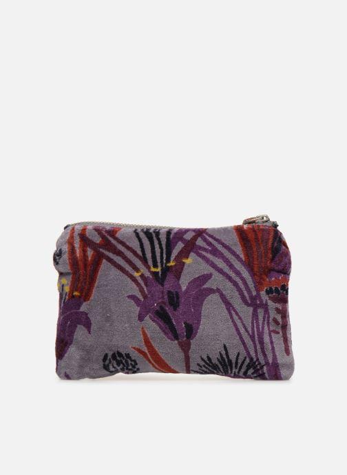 Wallets & cases Monoprix Femme POCHETTE MOYENNE VELOURS AOP Purple front view