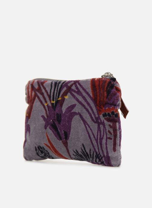 Wallets & cases Monoprix Femme POCHETTE MOYENNE VELOURS AOP Purple view from the right
