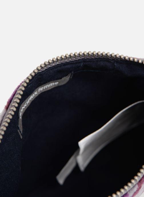 Petite Maroquinerie Monoprix Femme POCHETTE MOYENNE VELOURS AOP Violet vue derrière