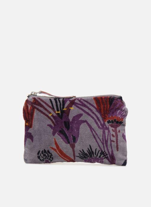Wallets & cases Monoprix Femme POCHETTE MOYENNE VELOURS AOP Purple detailed view/ Pair view