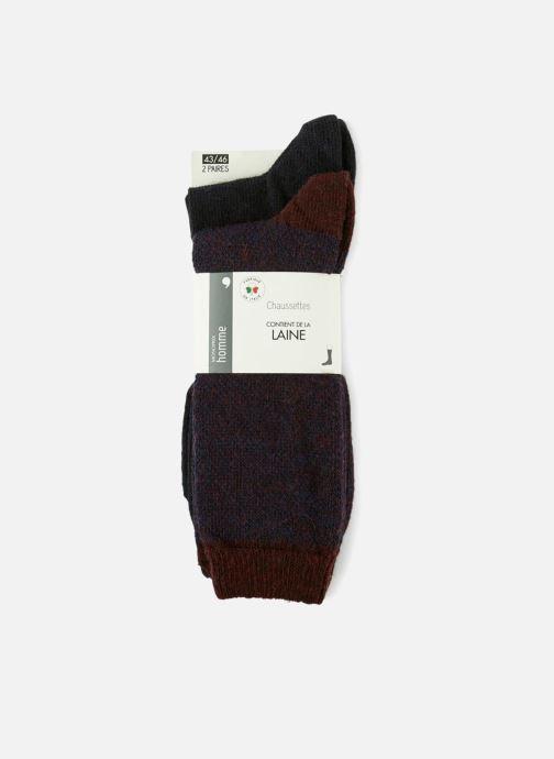 Chaussettes et collants Monoprix Homme CHAUSSETTE LOT DE 2 CHEVRONS Bleu vue détail/paire
