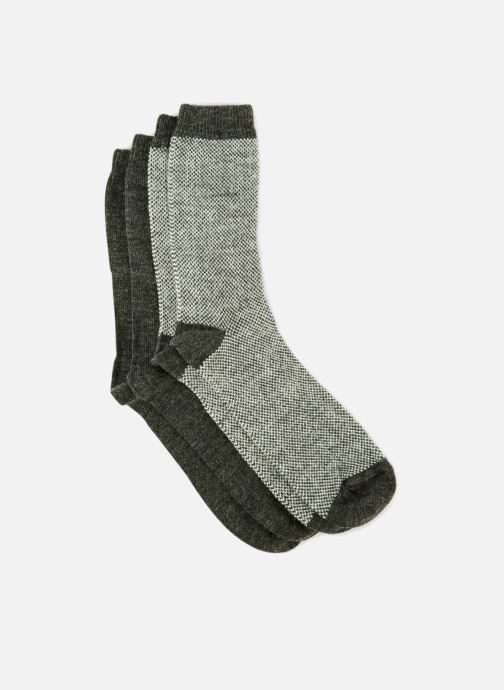 Chaussettes et collants Monoprix Homme CHAUSSETTE LOT DE 2 CHEVRONS Gris vue portées chaussures