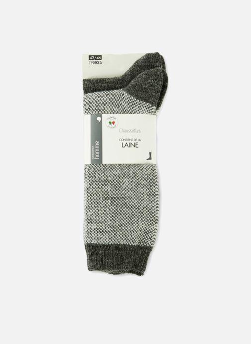Chaussettes et collants Monoprix Homme CHAUSSETTE LOT DE 2 CHEVRONS Gris vue détail/paire