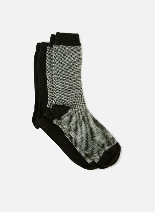 Chaussettes et collants Monoprix Homme CHAUSSETTE LOT DE 2 CHEVRONS Noir vue portées chaussures