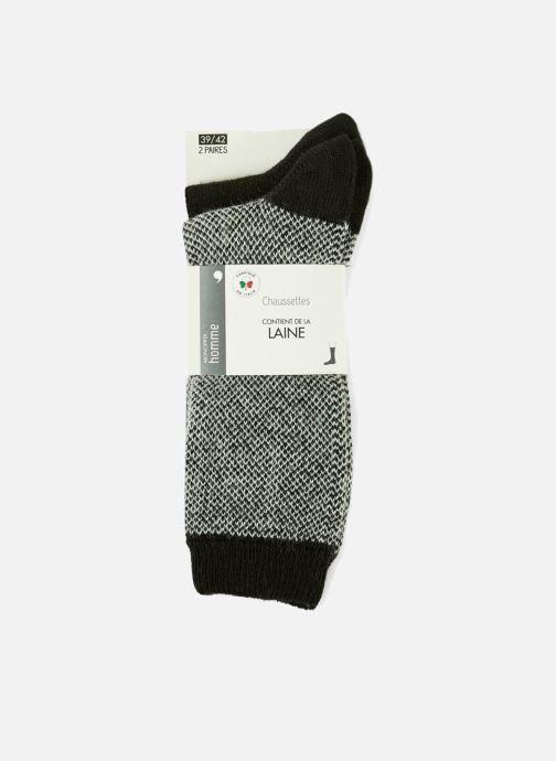 Chaussettes et collants Monoprix Homme CHAUSSETTE LOT DE 2 CHEVRONS Noir vue détail/paire
