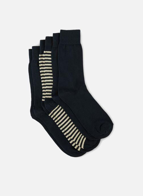Socks & tights Monoprix Homme CHAUSSETTE LOT 3 RAYURES ET UNIE Blue model view