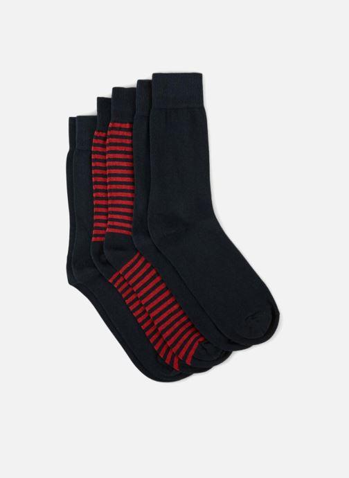 Socken & Strumpfhosen Monoprix Homme CHAUSSETTE LOT 3 RAYURES ET UNIE blau schuhe getragen