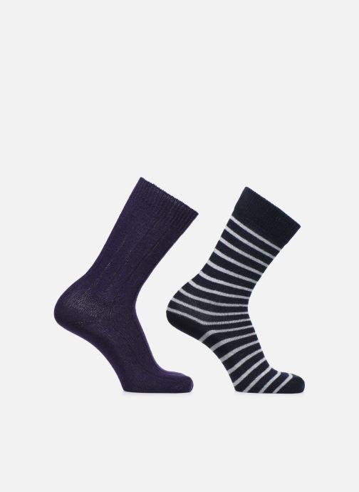 Socken & Strumpfhosen Monoprix Homme COFFRET DE 2 CHAUSSETTES lila detaillierte ansicht/modell