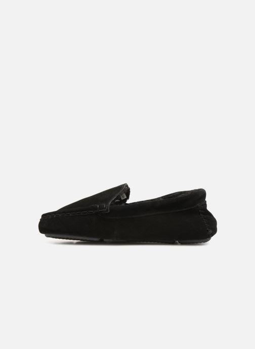 Pantoffels Monoprix Homme SLEEPER CUIR NOEL Zwart voorkant