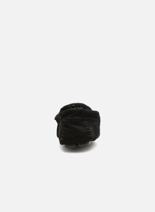Slippers Monoprix Homme SLEEPER CUIR NOEL Black view from the right