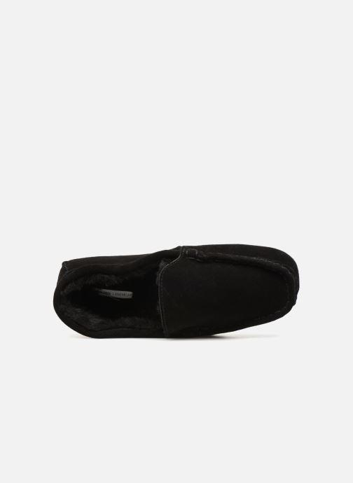Chaussons Monoprix Homme SLEEPER CUIR NOEL Noir vue gauche