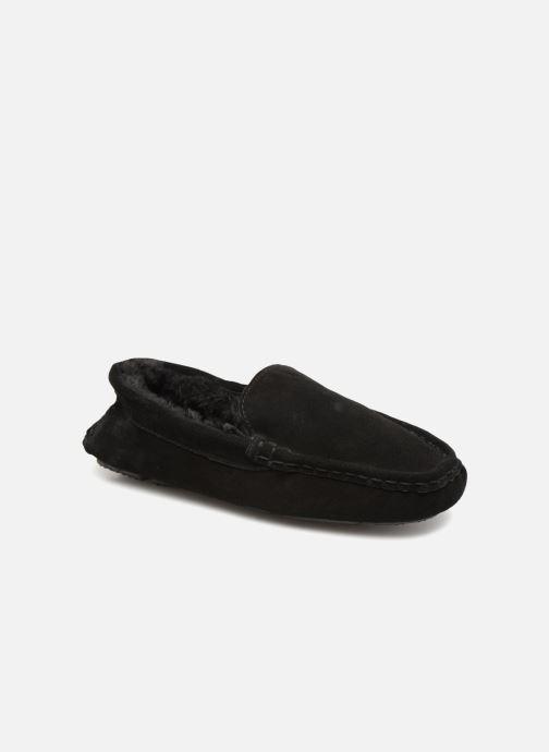 Pantoffels Monoprix Homme SLEEPER CUIR NOEL Zwart detail