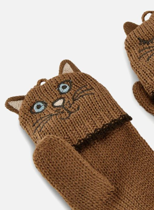Handskar Monoprix Kids MITAINES CHAT F Brun bild av skorna på