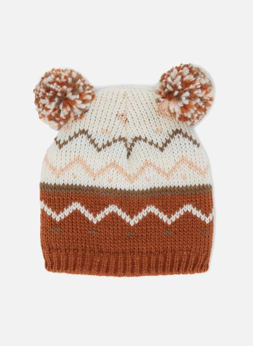 Bonnets Monoprix Kids BONNET JACQUARD F Marron vue détail/paire