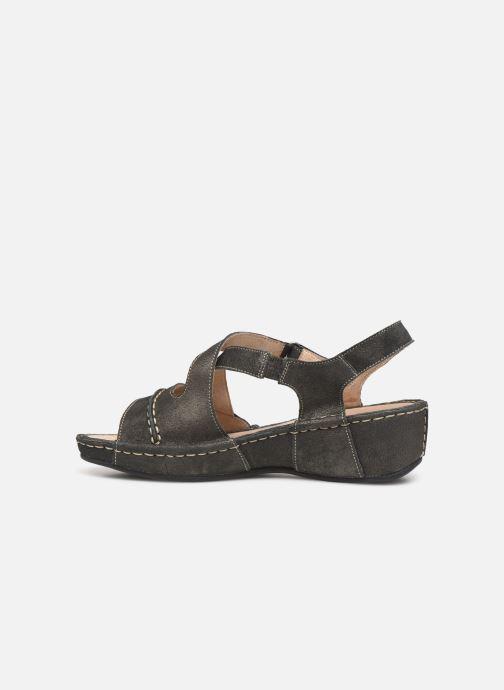 Sandales et nu-pieds TBS Easy Walk Vermeil Noir vue face