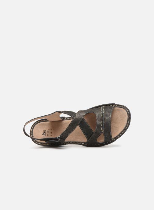 Sandales et nu-pieds TBS Easy Walk Vermeil Noir vue gauche