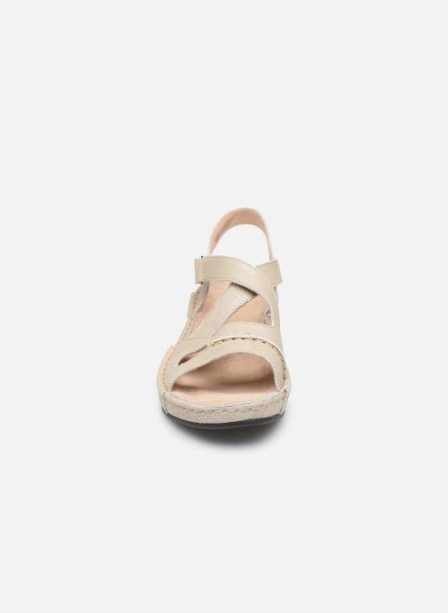 Easy Vermeil Et Blanc pieds Sandales Walk Nu Tbs TJuF3lK15c