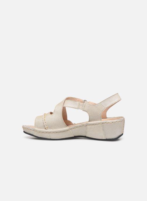 Sandales et nu-pieds TBS Easy Walk Vermeil Blanc vue face