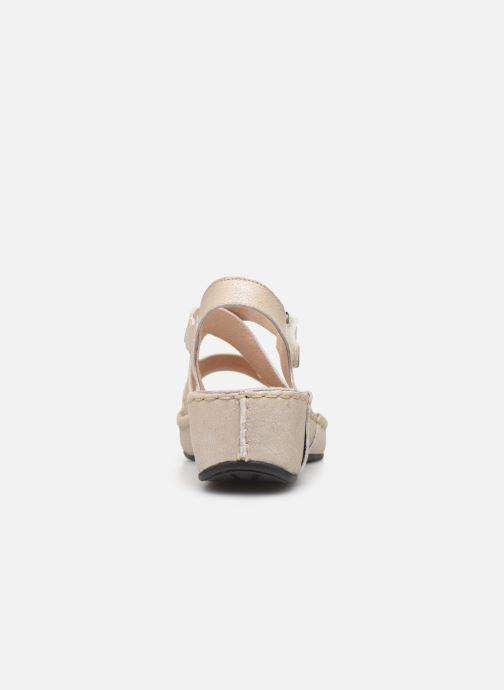 Sandales et nu-pieds TBS Easy Walk Vermeil Blanc vue droite