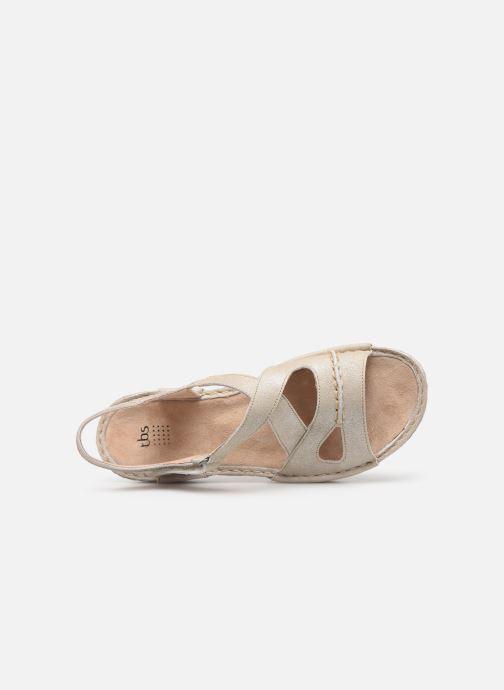 Sandales et nu-pieds TBS Easy Walk Vermeil Blanc vue gauche