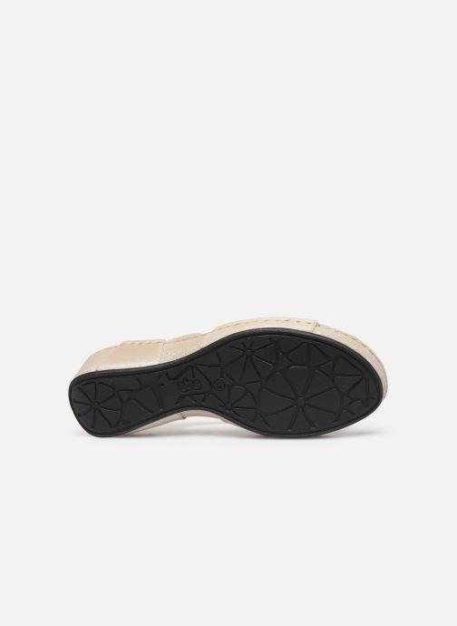 Sandales et nu-pieds TBS Easy Walk Vermeil Blanc vue haut
