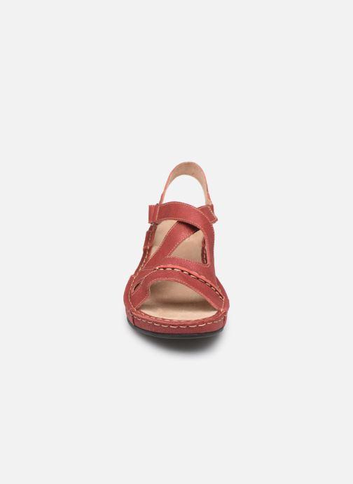 Sandales et nu-pieds TBS Easy Walk Vermeil Rouge vue portées chaussures