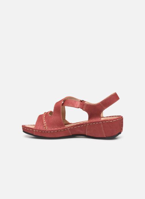 Sandales et nu-pieds TBS Easy Walk Vermeil Rouge vue face