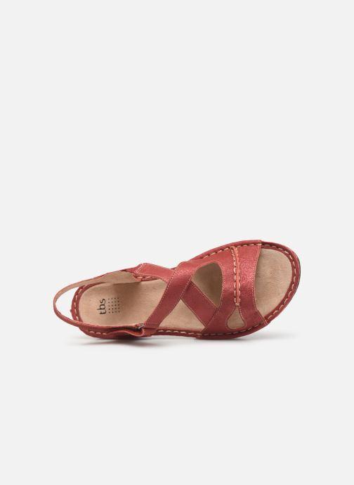Sandales et nu-pieds TBS Easy Walk Vermeil Rouge vue gauche