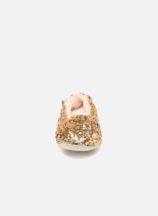 Slippers Monoprix Kids BALLERINE PAILLETTE Bronze and Gold model view