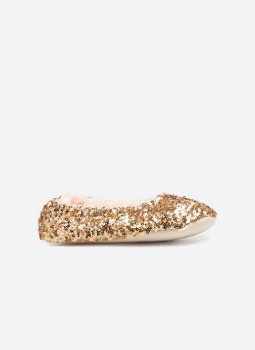 Pantoffels Monoprix Kids BALLERINE PAILLETTE Goud en brons achterkant