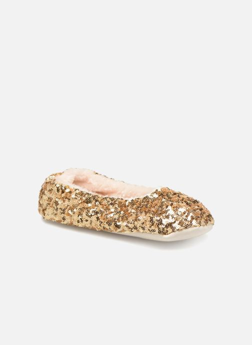 Slippers Monoprix Kids BALLERINE PAILLETTE Bronze and Gold detailed view/ Pair view