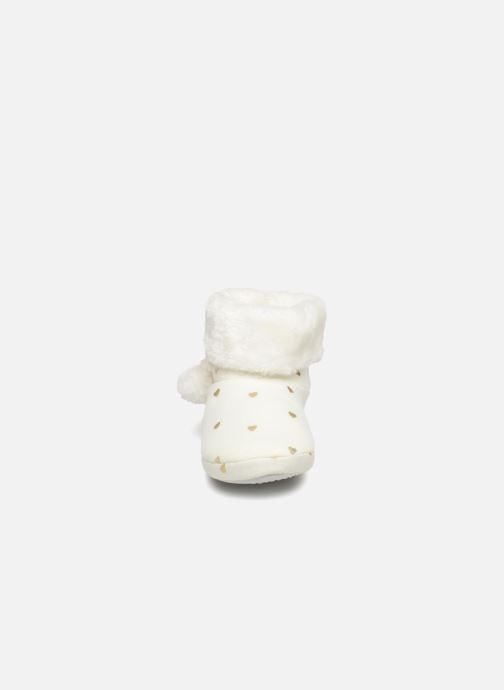 Chaussons Monoprix Kids BOTTINE NOEL F Blanc vue portées chaussures